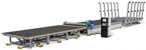 Cutting line with automatic loader